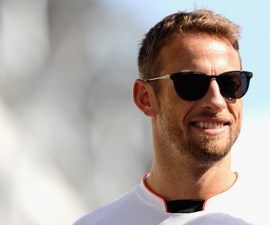 Jenson Button en el GP de Singapur