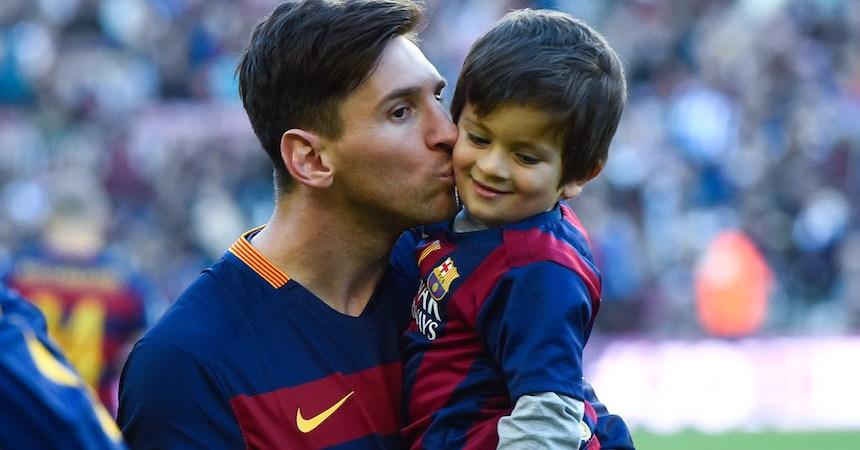 Lionel Messi ya metió a su hijo a la escuela del Barcelona