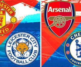 Manchester United vs Leicester y Arsenal vs Chelsea