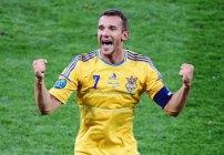 Adnriy Shevchenko festejando