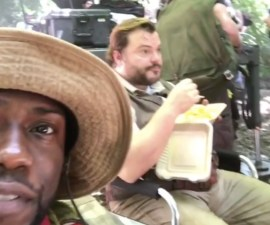 Clip de video de Kevin Hart junto a Jack Black