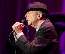 NEW YORK, NY - DECEMBER 18:  Musician Leonard Cohen performs at Madison Square Garden on December 18, 2012 in New York City.  (Photo by Mike Lawrie/Getty Images)
