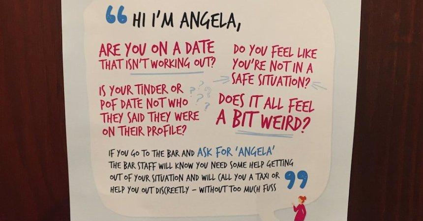 Una campaña que involucra a los meseros contra el abuso sexual en Inglaterra