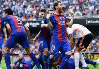 Messi marcó el gol que le dio los tres puntos al Barcelona