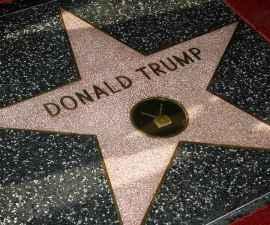 Donald Trump en el Paseo de la Fama