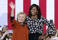 Michelle Obama aparece en mitin de campaña de la candidata demócrata Hillary Clinton