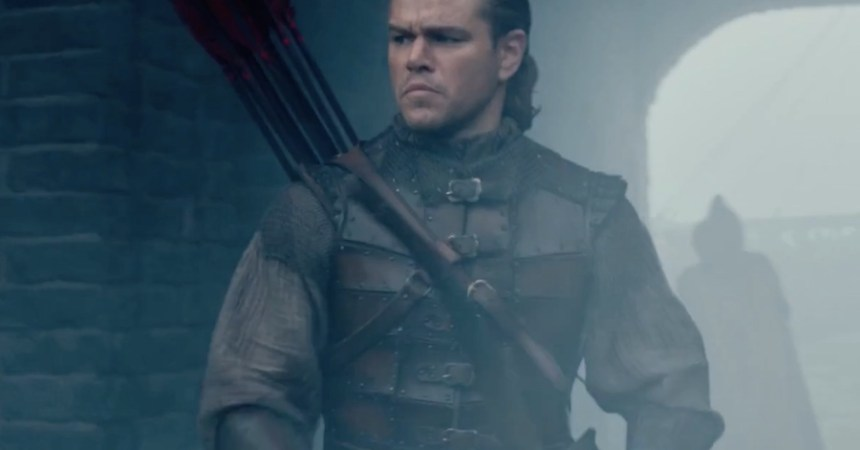 Matt Damon en The Wall