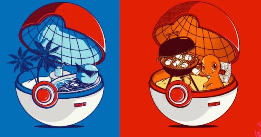 Pokémon dentro de la Pokébola