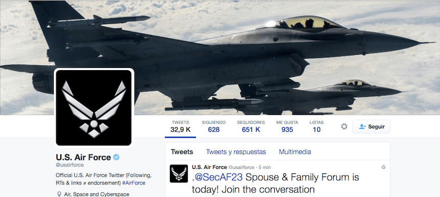 Twitter Us Air Force