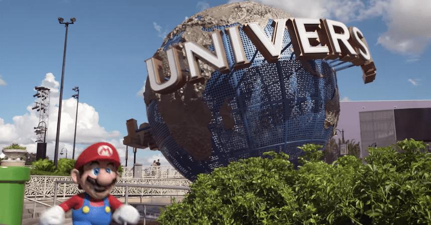 Mario en los Estudios Universal