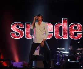 INCHEON, SOUTH KOREA - AUGUST 03:  Brett Anderson of Suede performs on stage during day 2 of the Pentaport Rock Festival on August 3, 2013 in Incheon, South Korea.  (Photo by Chung Sung-Jun/Getty Images)