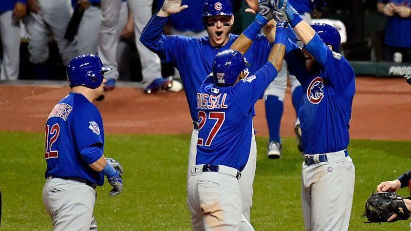 Chicago Cubs celebra en sexto juego
