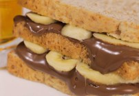 Delicioso sándwich de Nutella