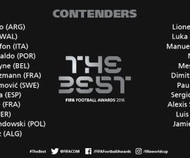 Son 23 los nominados para el premio The best