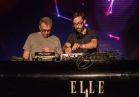 RIO DE JANEIRO, BRAZIL - OCTOBER 14: Chris Geddes and Richard Colburn from Belle and Sebastian performs at ELLE Fashion Preview on October 14, 2015 in Rio de Janeiro, Brazil. (Photo by Raphael Dias/Getty Images)