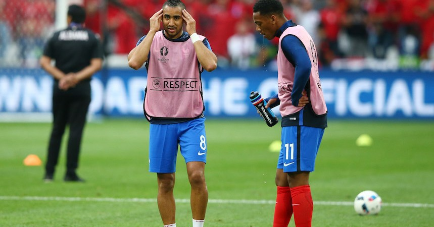 Dimitri Payet y Anthony Martial