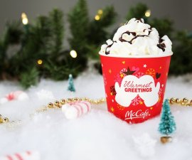 Vasitos navideños de McDonald's
