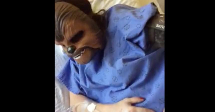 La nueva mamá Chewbacca