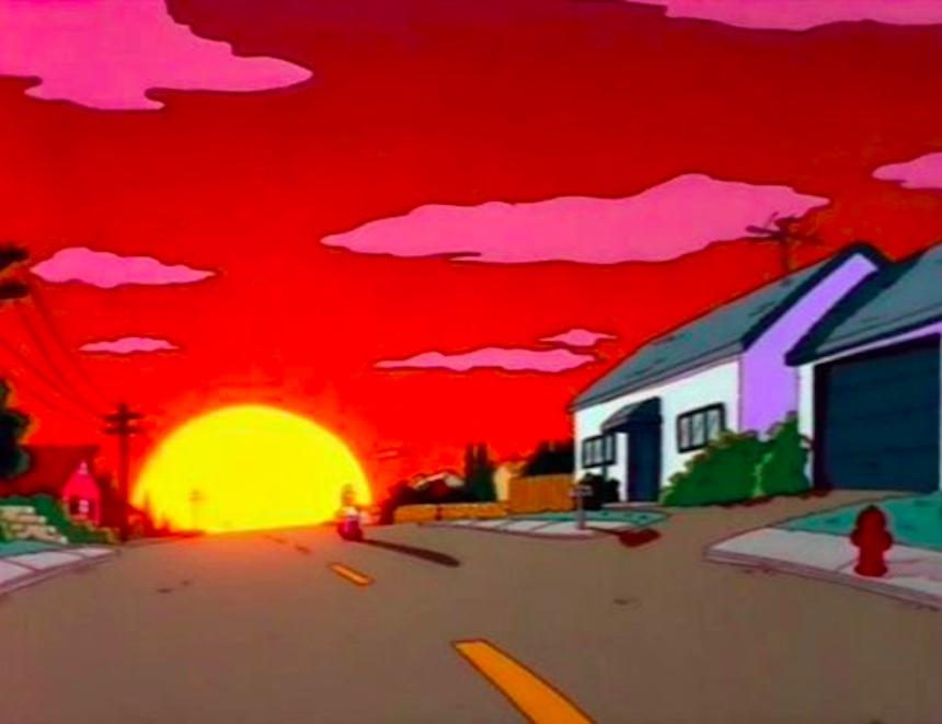Los Simpson - Homero en bici