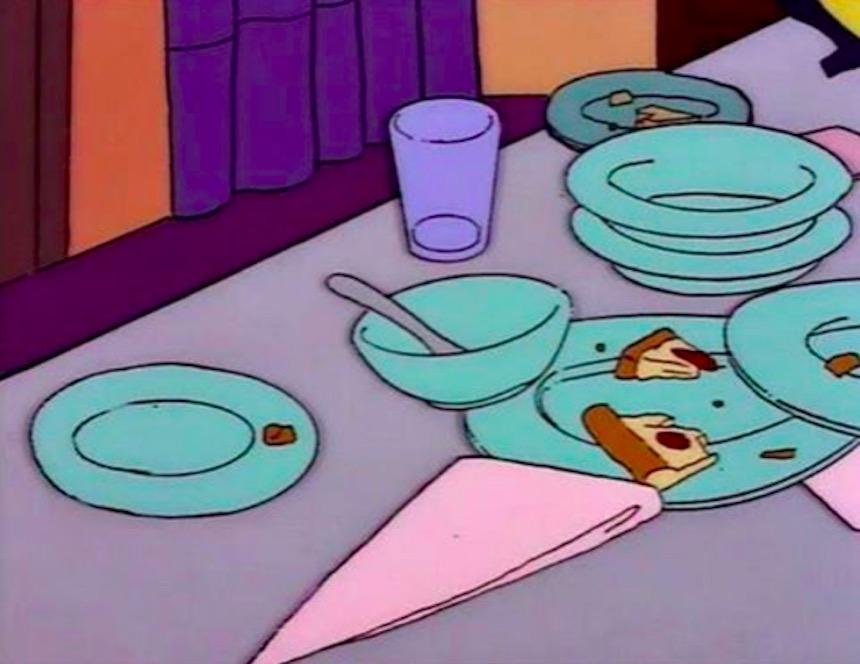 Los Simpson - Platos