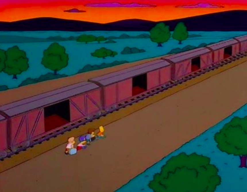 Los Simpson - Tren