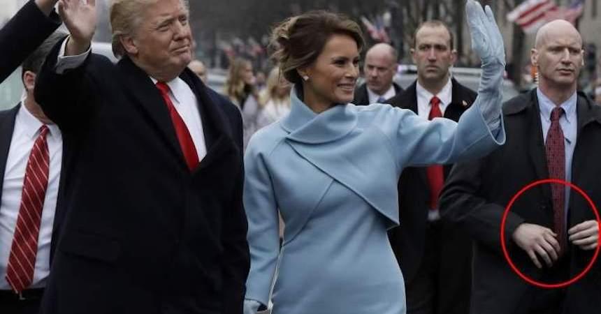 La mano falsa del guardaespaldas de Trump