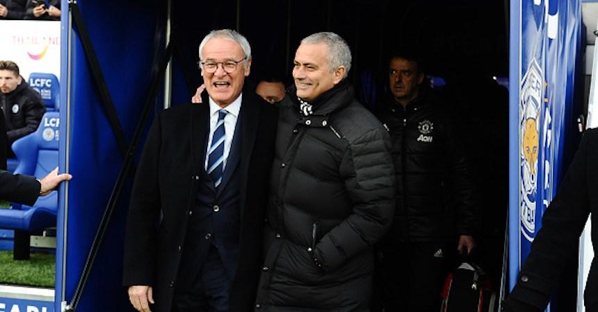 Claudio Ranieri y José Mourinho