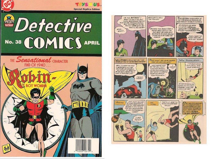 Primera aparición de Robin en Detective Comics