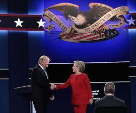 Donald Trump y Hillary Clinton se enfrentaron en el primer debate presidencial