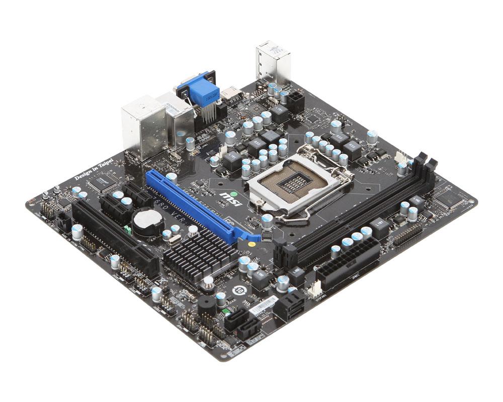 MSI MS-7680 Ver 2.0 H61M-E23 (B3) Socket LGA1155 DDR3 Motherboard with BP