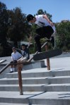 Flores sent some crazy tricks down the 3 flat 3