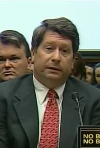 Parnell declining to answer questions in Congress in 2009, on his lawyers' advice.