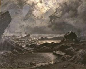 Image: Stormnatt, by Knud Baade, 1879. Public domain.
