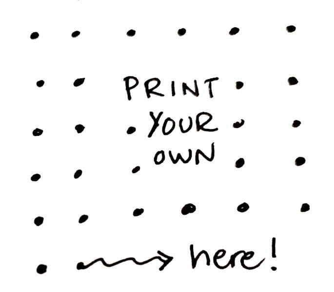free printable dot grid paper Archives Sorted Soul