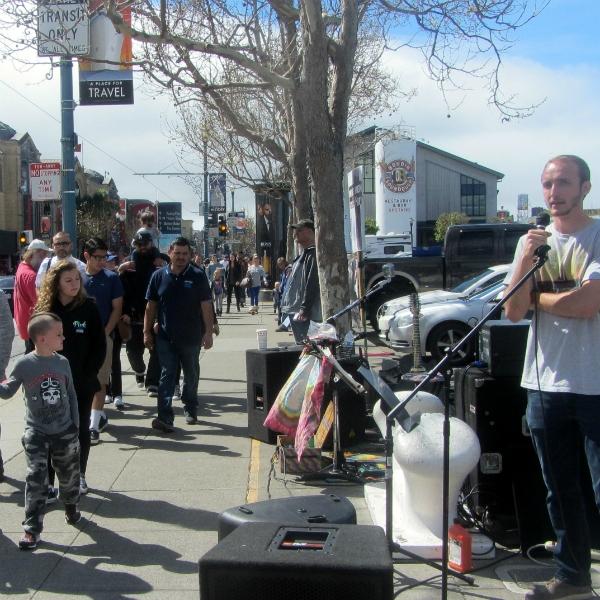BEN PREACHES AT WHARF