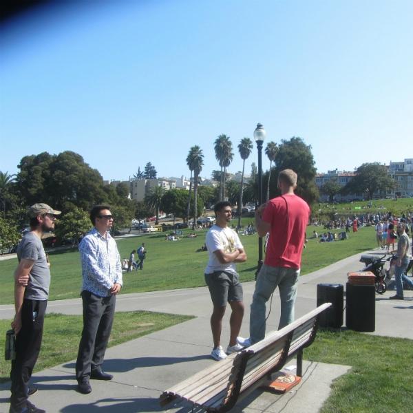 CAL PREACHES AT DOLORES PARK