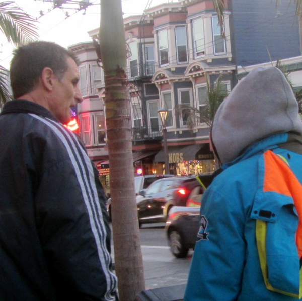 MIKE WITNESSES TO MAN ON CASTRO ST