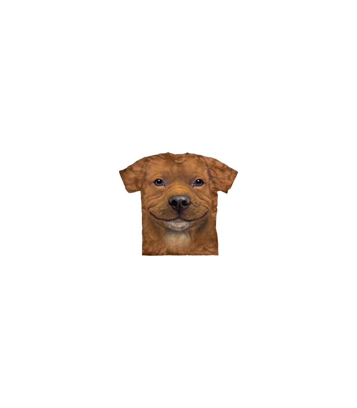 The Mountain Unisex Big Face Pitbull Puppy Dog T Shirt