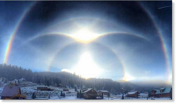 Jfk Quote Wallpaper Rare Ice Halo Appears In The Sky Over Red River New