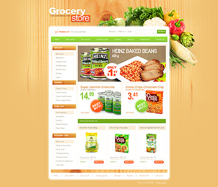 free grocery store website templates - Onwebioinnovate - grocery shopping template