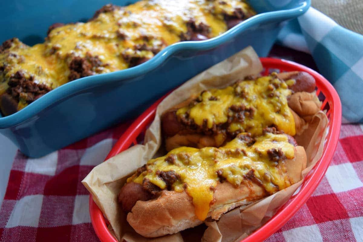 Fullsize Of Baked Hot Dogs