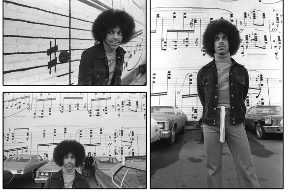 Rare Prince Photo Exhibit by Robert Whitman in Los Angeles at Mr. Musichead Gallery on February 20, 2014