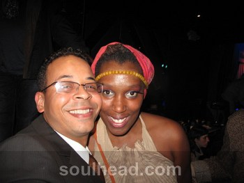 Imani Uzuri with soulhead.com Founder Ron Worthy