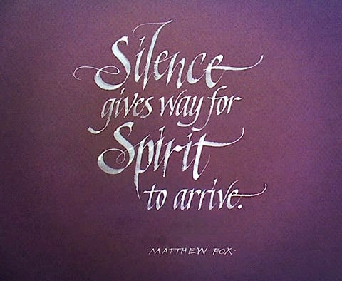 """SILENCE GIVES WAY FOR SPIRIT"""