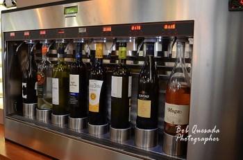 Self service wine bar.