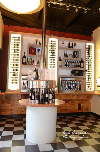 Wine bar at the entrance.