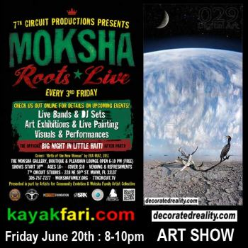 Moksha Art show Flex Maslan kayakfari decoratedreality June 2014