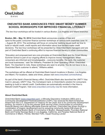 OneUnited-Bank-Free-Smart-Money-Summer-School-press-release