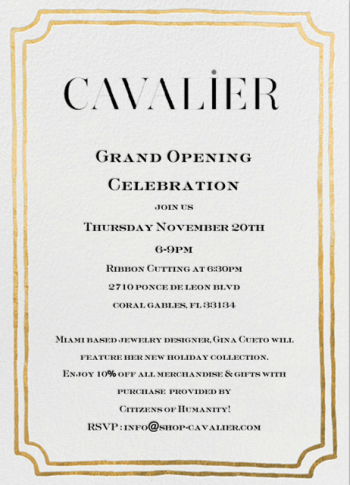 Cavalier-Grand-Opening