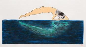2012.Sandra-Ramos.-Narcisus.-etching-50-x-100-cm